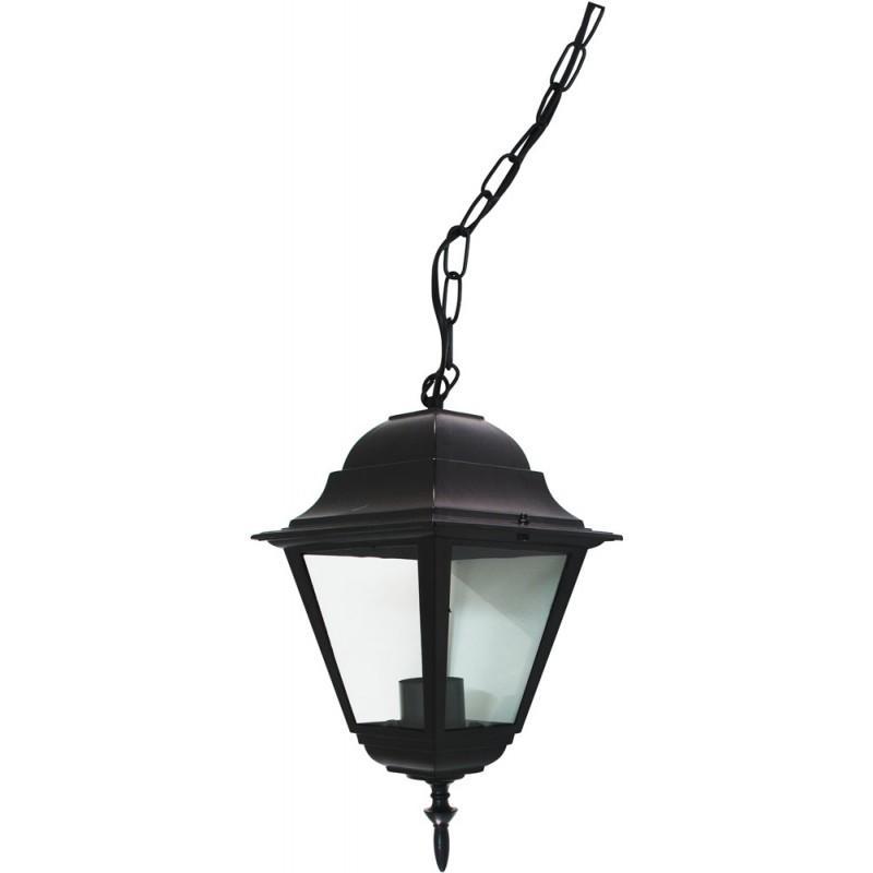 Светильник садово-парковый Feron 4105 четырехгранный  60W E27 230V, черный