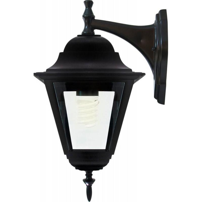Светильник садово-парковый Feron 4202 четырехгранный  100W E27 230V, черный