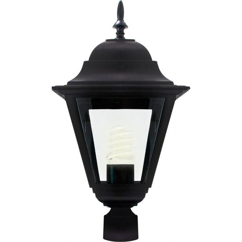 Светильник садово-парковый Feron 4203 четырехгранный  100W E27 230V, черный