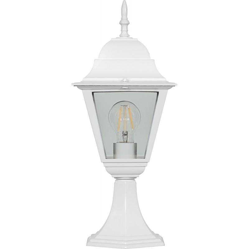 Светильник садово-парковый Feron 4204 четырехгранный  100W E27 230V, белый