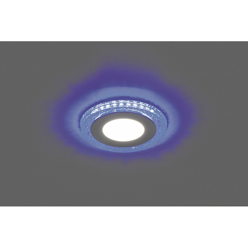 Светодиодный светильник Feron AL2330 встраиваемый 6W 4000K с синей подсветкой, белый
