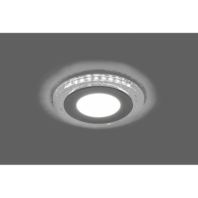 Светодиодный светильник Feron AL2330 встраиваемый 16W 4000K с белой подсветкой, белый