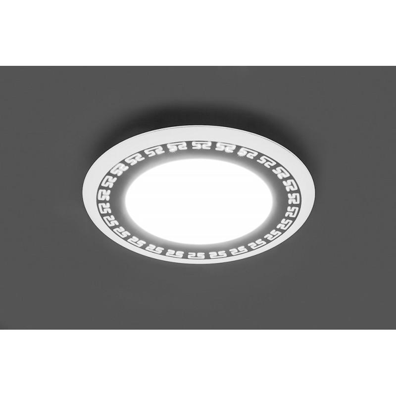 Светодиодный светильник Feron AL2440 встраиваемый 6W 4000K с белой подсветкой, белый