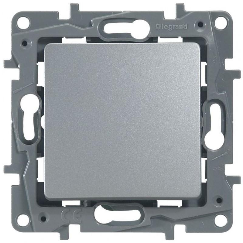 Механизм выключателя 1-клавишного алюминий Legrand Etika 672401