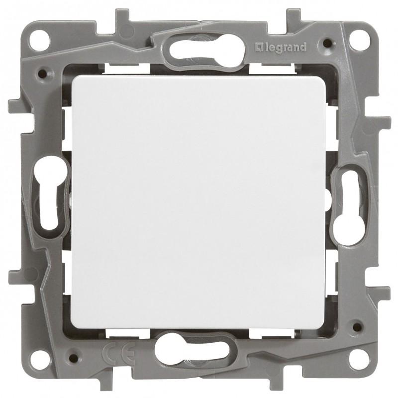 Механизм выключателя 1-клавишного белый Legrand Etika 672201