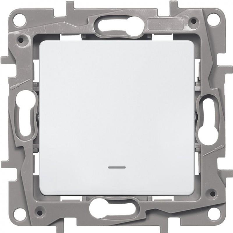 Механизм выключателя 1-клавишного с подсв белый Legrand Etika 672203