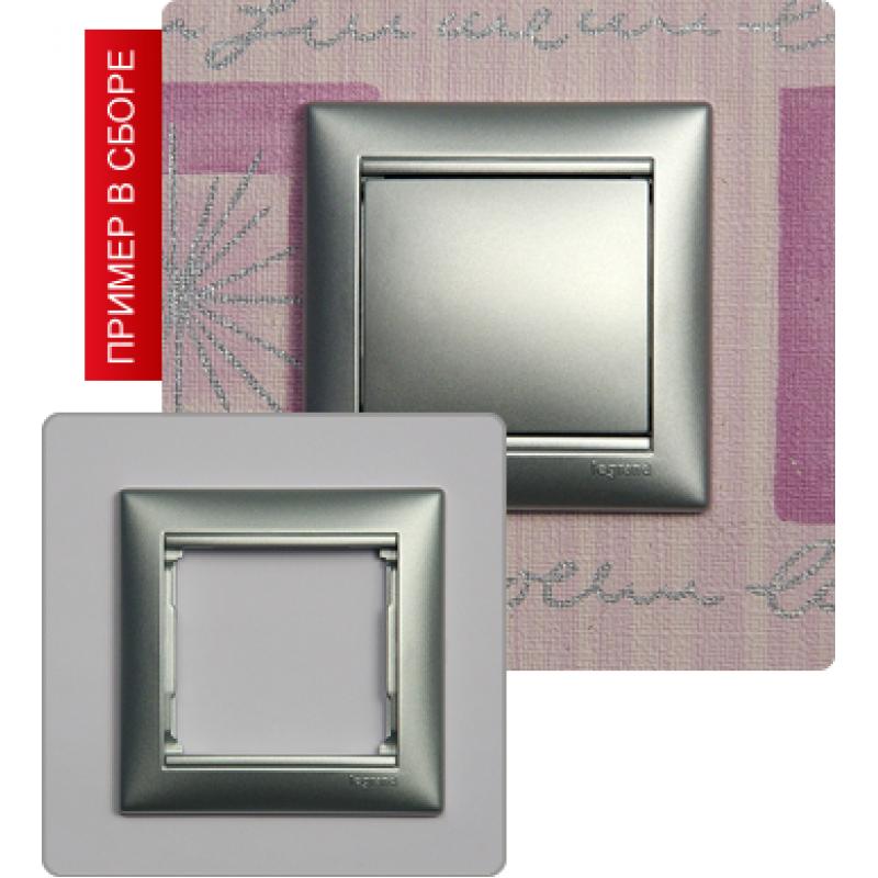 Рамка 1 пост алюминий Legrand Valena