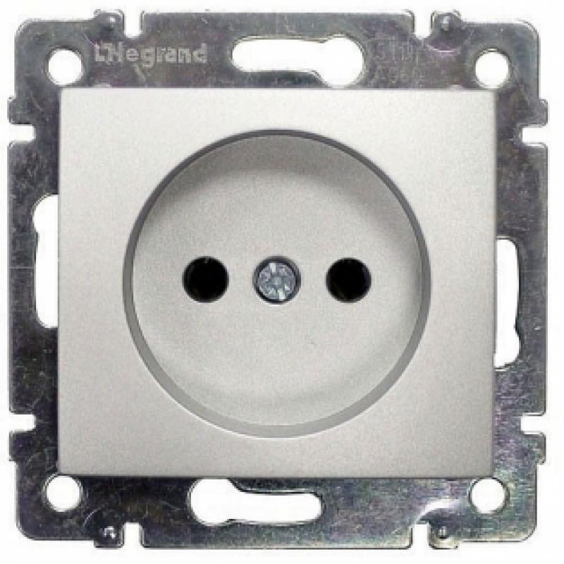 Механизм розетки (2К) 16А  алюминий Legrand Valena 770116
