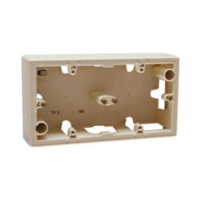Коробка для накладного монтажа 2 поста  слоновая кость Legrand Valena 776132