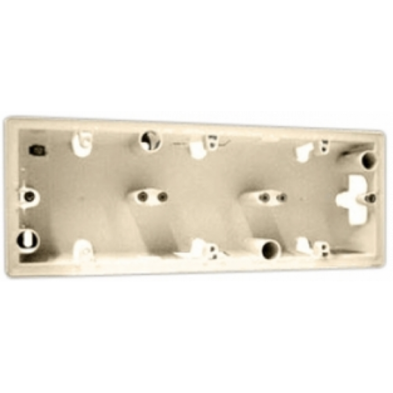 Коробка для накладного монтажа 3 поста  слоновая кость Legrand Valena 776133
