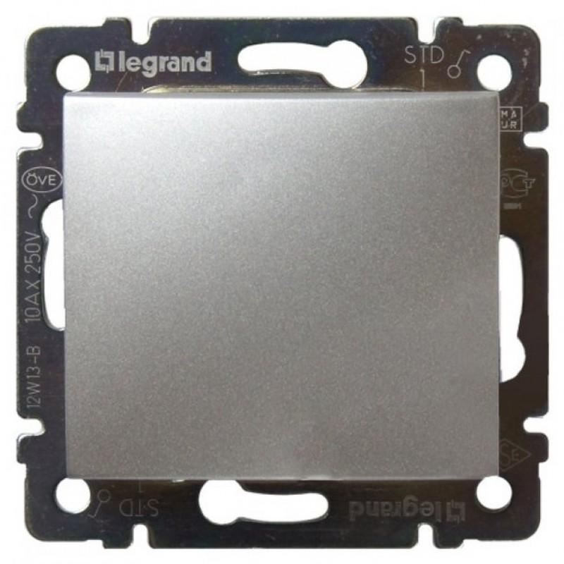 Механизм выключателя 1-клавишного алюминий Legrand Valena 770101