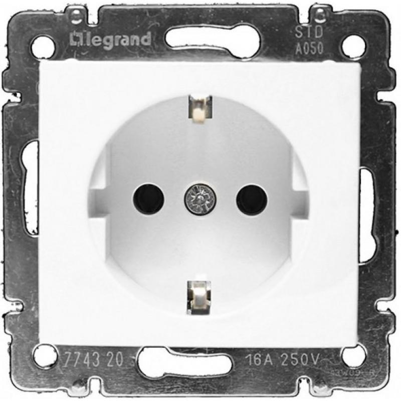 Механизм розетки (2К+3) 16А немецкий стандарт  белый Legrand Valena 774420