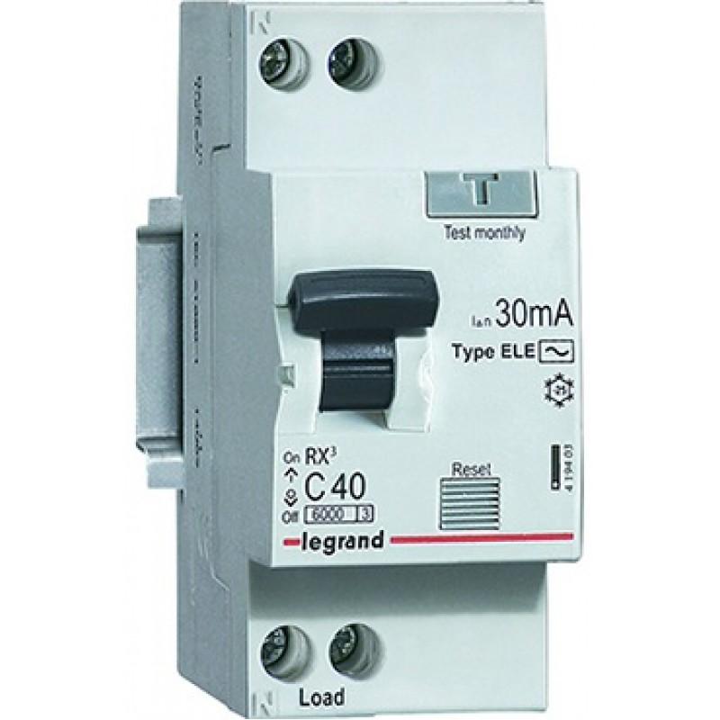 Дифавтомат 10A 30мА 6кА 2 полюса уставка C тип AC 419397 Legrand RX3