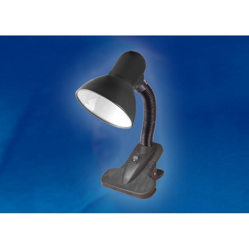 Настольная лампа на прищепке Uniel Universal TLI-202 Black E27
