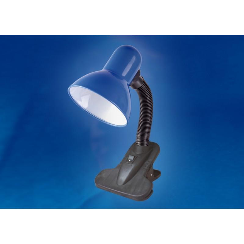 Настольная лампа на прищепке Uniel Universal TLI-202 Blue E27