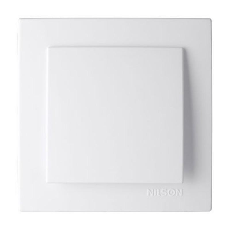 Выключатель 1-клавишный белый NILSON Touran 24111001