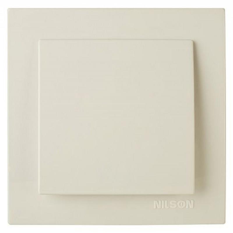 Выключатель 1-клавишный  крем NILSON Touran 24121001