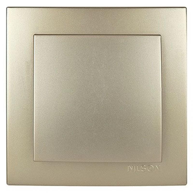Выключатель 1-клавишный золото NILSON Touran 24151001