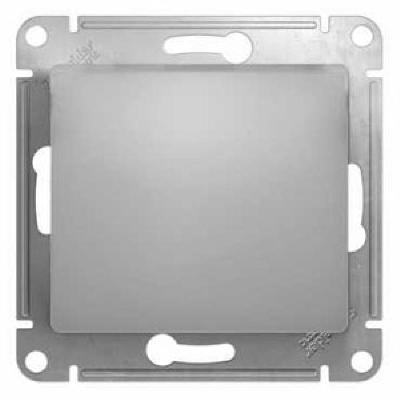 "SCHNEIDER ELECTRIC Glossa Выключатель 1-клавишный, 10A 250V, ""алюминий"" GSL000311"
