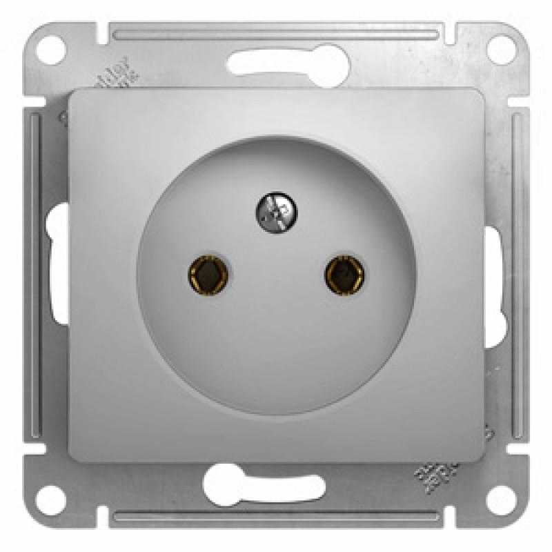 SCHNEIDER ELECTRIC Glossa Розетка 2P, 16A 250V, алюминиевая GSL000341