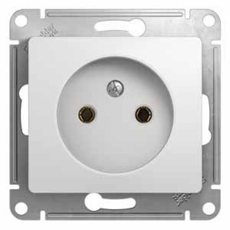 SCHNEIDER ELECTRIC Glossa Розетка 2P, 16A 250V, белая GSL000141