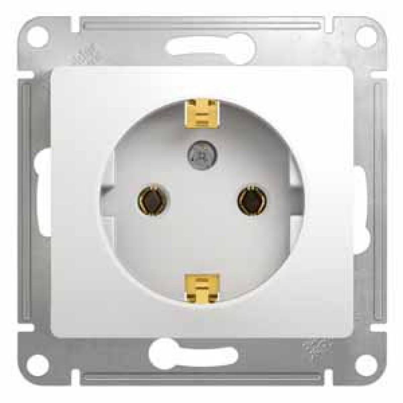 SCHNEIDER ELECTRIC Glossa Розетка 2P+З, 16A 250V, белая GSL000143