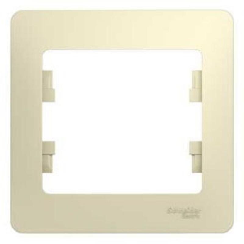 SCHNEIDER ELECTRIC Glossa Рамка 1-местная, бежевая GSL000201