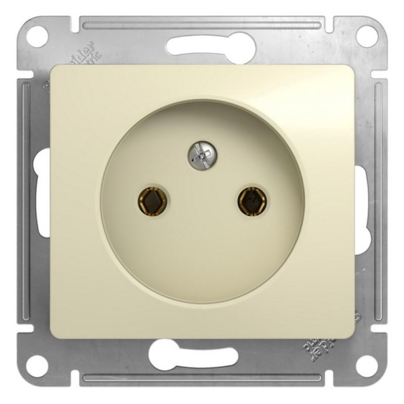 SCHNEIDER ELECTRIC Glossa Розетка 2P, 16A 250V, бежевая GSL000241
