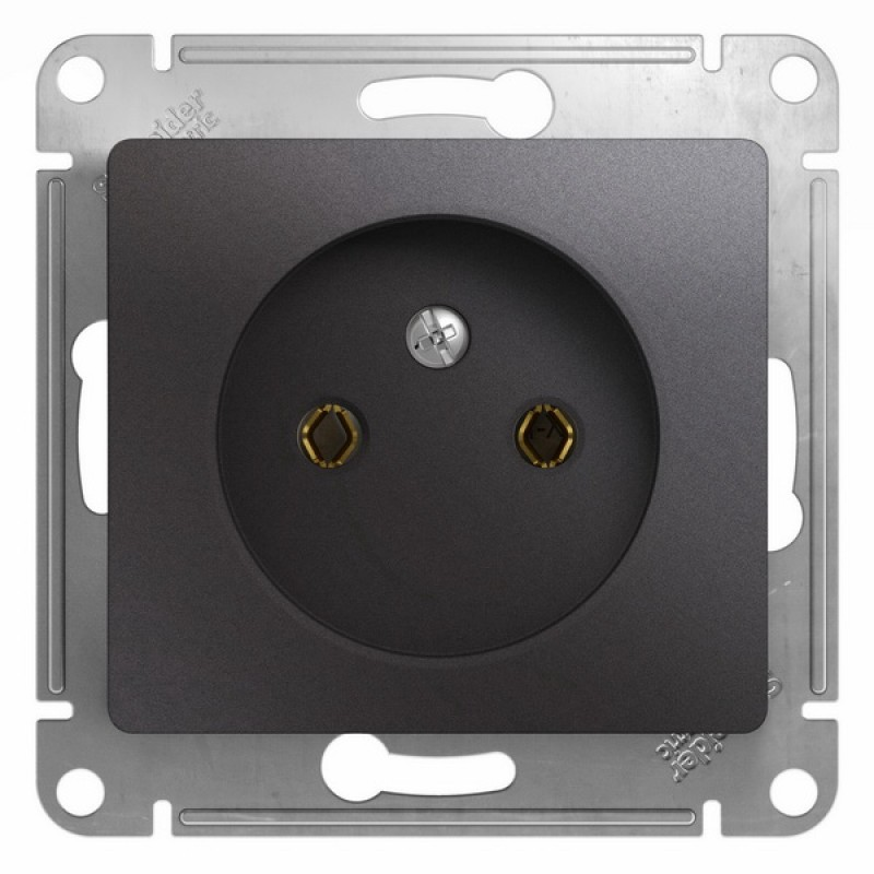 """SCHNEIDER ELECTRIC Glossa Розетка 2P, 16A 250V, """"графит"""" GSL001341"""
