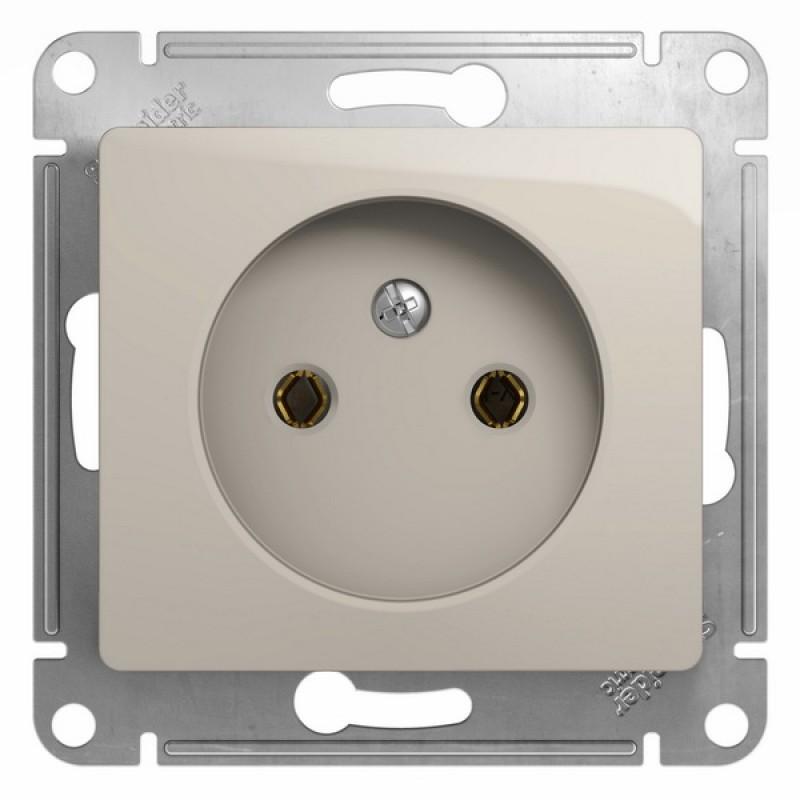 SCHNEIDER ELECTRIC Glossa Розетка 2P, 16A 250V, молочная GSL000941
