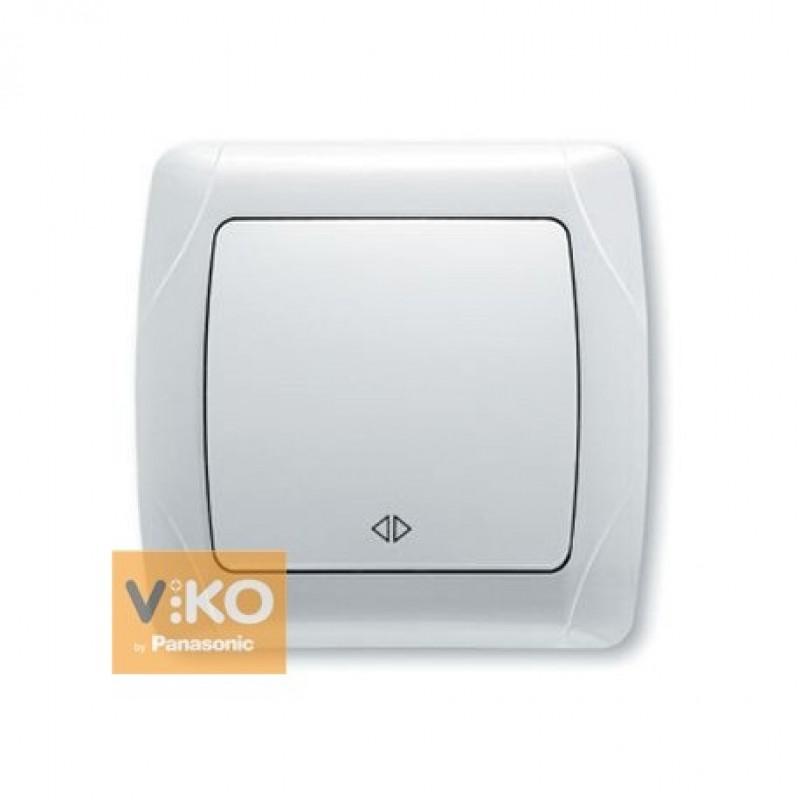 Переключатель VIKO Переключатель Carmen 1-клавишный перекрестный белый