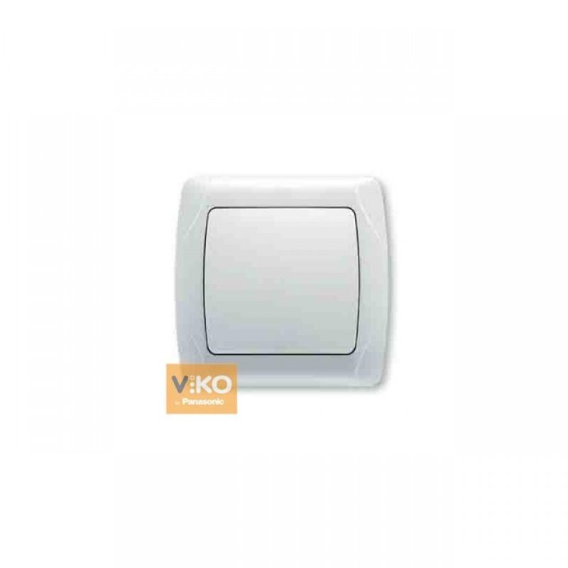 Выключатель VIKO Выключатель Carmen 1-клавишный белый