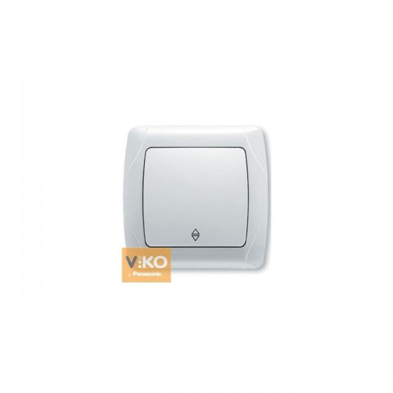 Переключатель VIKO Выключатель Carmen 1-клавишный проходной белый