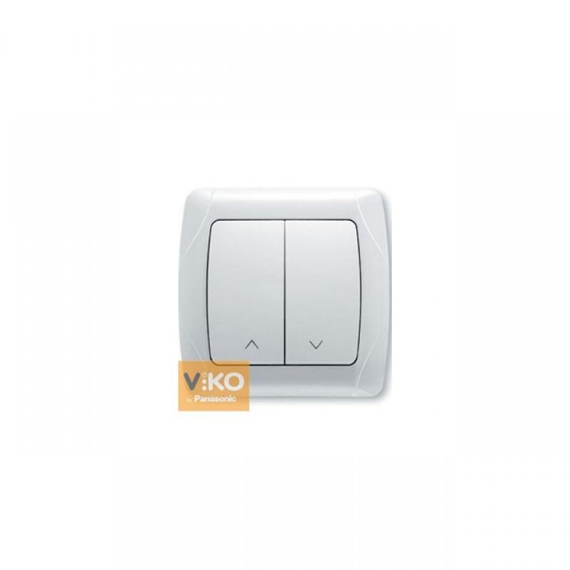Кнопочный выключатель  VIKO Кнопочный выключатель  Carmen для жалюзи 2-клавишный белый