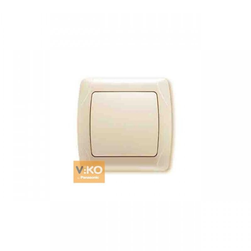 Выключатель VIKO Выключатель Carmen 1-клавишный крем