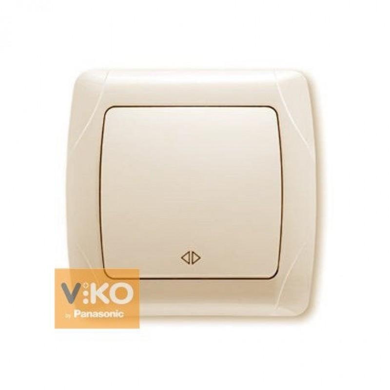 Переключатель VIKO Переключатель Carmen 1-клавишный перекрестный крем