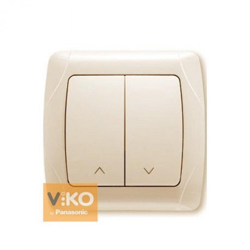 Кнопочный выключатель  VIKO Кнопочный выключатель  Carmen для жалюзи 2-клавишный крем