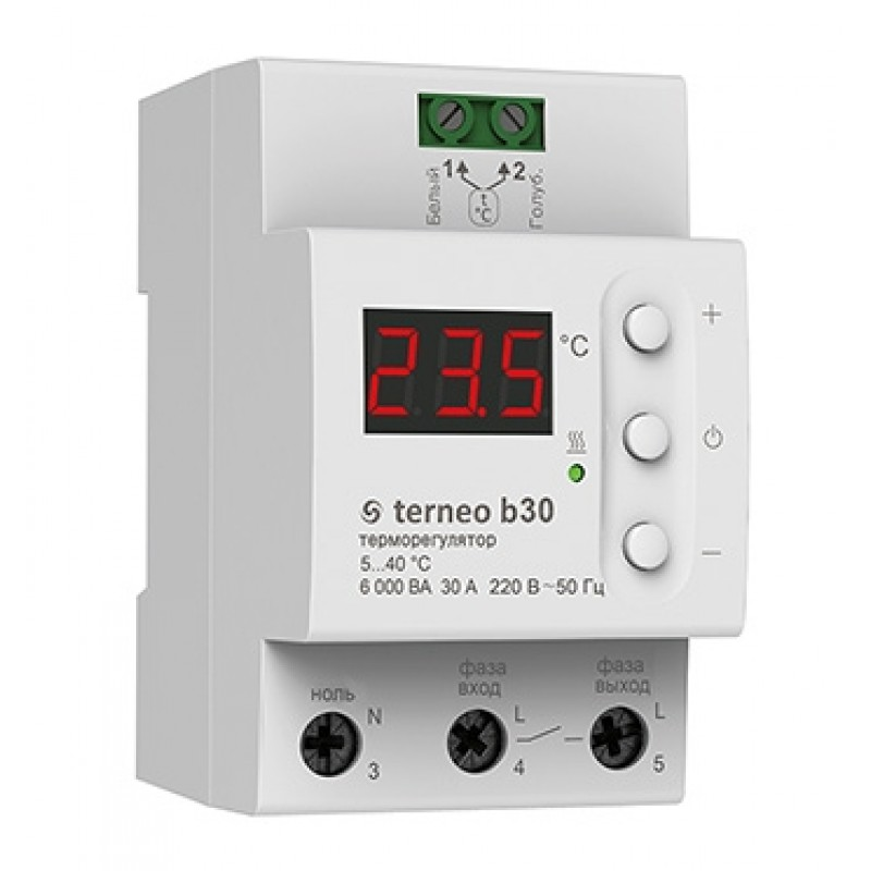 Мощный терморегулятор terneo b 32 A