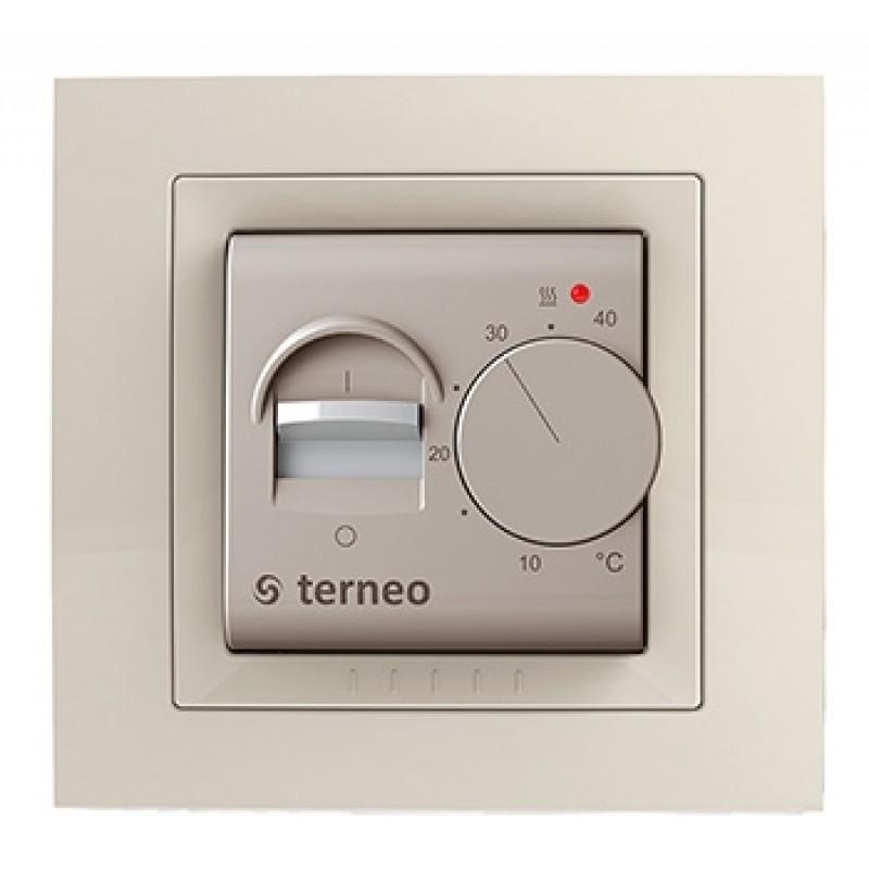 Терморегулятор  terneo mex unic  (слоновая кость)
