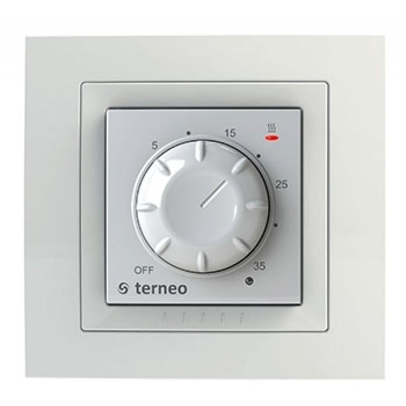 Терморегулятор со встроенным датчиком Terneo rol unic (белый)